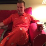 Mark is ready for this game! solidorange allin