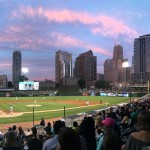 Sunset over the ballpark